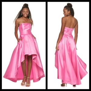 Speechless Strapless Pink High Low Dress NWT